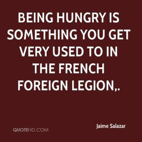Being hungry is something you get very used to in the French Foreign ...