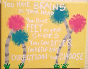 8X10 Dr. Seuss quote and lorax trees on Etsy, $12.00