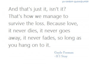 If I Stay Gayle Forman Quotes