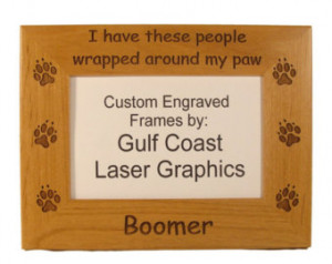 ... My Paw Photo Frame (4x6 photo) Personalized With Your Dog's Name