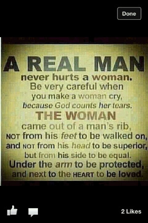 emotionally, be a real man and own up to it - God called us to be men ...
