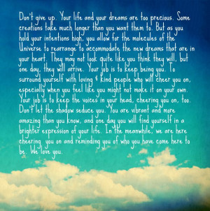 Your Personal Angels | Don't Give Up On Your Dreams | The Tao of ...