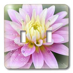 ... Dahlia Rumi Floral Inspirational Quotes Poetry Double Toggle Switch