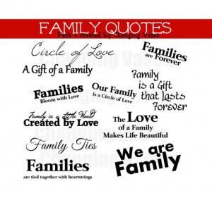 50 OFF Family Word Art Collection 11 Quotes by ChangingVases, $2.50