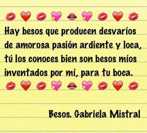 Gabriela Mistral. Besos