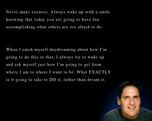 quote:Advice from multi-billionaire Mark Cuban: Stop dreaming, start ...