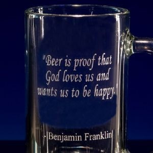 Great Drinking Quotes Customized Beer Mugs