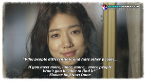 Korean Drama Quotes] Flower Boy Next Door episode 13