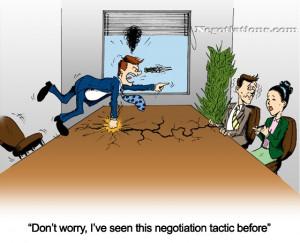 Sales Negotiation Tactic - Cartoon