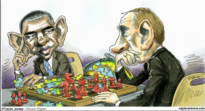 Negotiating with Obama is like playing chess with a pigeon. The pigeon ...