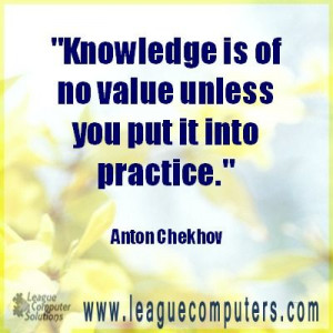 Monday's Motivational Quote - Knowledge