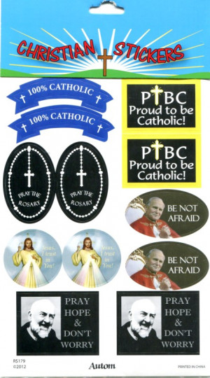 Catholic Sayings (RS179) Stickers, Pkg of 4 sheets