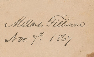 Millard Fillmore Signature Millard fillmore ink signature
