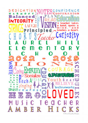 ... BAND TEACHER with Customization - Great Gift for Teacher Appreciation