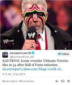 Warrior , wwe , WWE , ultimate warrior , rip , wwf , warrior ...