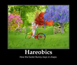 Easter bunny-exercise-fitness- hareobics-funny