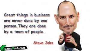 Great Things In Business by steve-jobs Picture Quotes