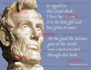 Lincoln Bible Poster