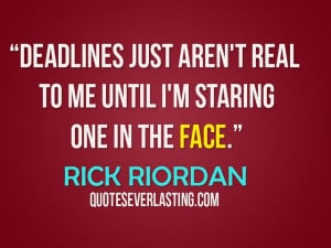 "... staring one in the face."" - Rick Riordan - http://wp.me/p2WFoB-1L8"