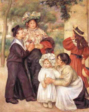 Figure 1.--Renoir had three boys. This painting shows Pierre 11 and ...