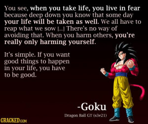 goku wisdom 39 surprisingly profound quotes from unexpected sources ...