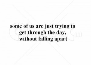 Without falling apart