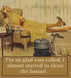 ... called i almost started cleaning the house vintage retro funny quote