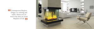 Contemporary fireplace design is so exciting and artful, chances are ...
