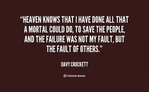Davy Crockett Alamo Quotes