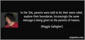 In the '60s, parents were told to let their teens rebel, explore their ...