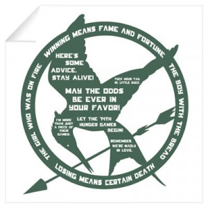 ... > Wall Art > Wall Decals > Hunger Games Quotes Wall Art Wall Decal