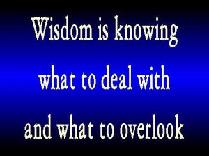 ... anger, and it is his glory to overlook an offense. Proverbs 19:11 ESV