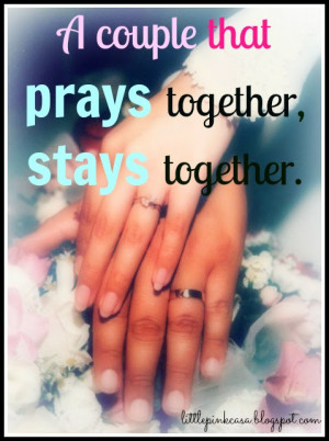 MM: Marriage Monday { Pray Together}
