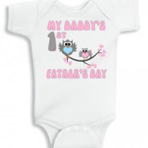 ... first fathers day baby girl onesie - Super Cute Owls baby onesie