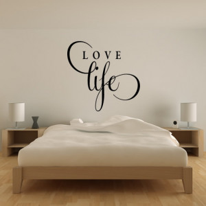 Love-Life-Wall-Stickers-Love-Quotes-Wall-Quotes-Wall-Art-Decal ...