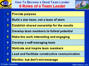 Roles of a Team Leader