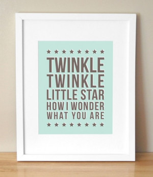 Twinkle Twinkle Little Star by Sugar Fresh contemporary-nursery-decor
