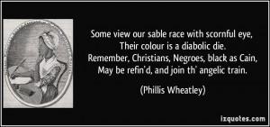 Phillis Wheatley Quote