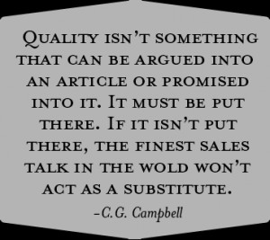 William Foster quote about Quality
