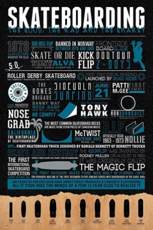 The Good, The Bad & The Gnarly - Skateboarding Quotes
