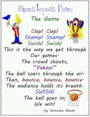 Onomatopoeia Poem The Game