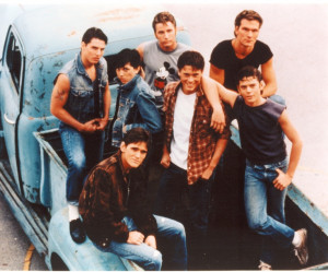 THE OUTSIDERS (1983) starring C. Thomas Howell, Rob Lowe, Emilio ...