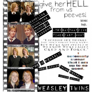 fred and george weasley quotes source http polyvore com fred george ...