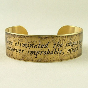 Sherlock Holmes - The Impossible and Improbable - Literary Quote SLIM ...