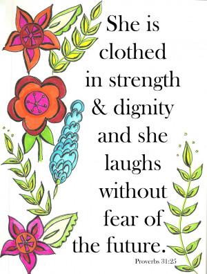 INSPIRATIONAL WINDOW - Strength of a Woman