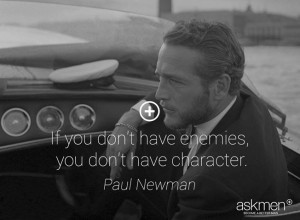... enemies, you don't have character.