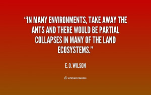 In many environments, take away the ants and there would be partial ...