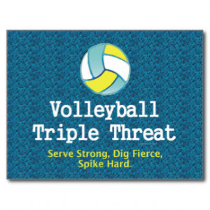TOP Volleyball Triple Threat Post Card