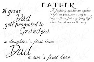 Father And Son Quotes For Scrapbooking Father's day wordart - 3