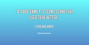 Good Family Quotes